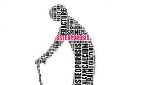 Recomendaciones de ejercicio físico y de nutrición con la palabra de osteoporosis