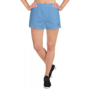 shorts azules deportivos mujer